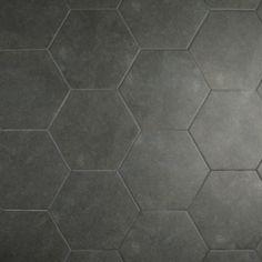 EliteTile Annata x Porcelain Field Tile in Charcoal Gray Hexagone Tile, Hexagon Tile Bathroom, Grey Bathroom Floor, Small Bathroom, Ikea Bathroom, Boho Bathroom, Basement Bathroom, White Bathroom, Master Bathroom