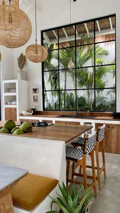 Interior Design Inspiration, Home Decor Inspiration, Home Design, Style At Home, Tropical Interior, Tropical House Design, Tropical Houses, House Rooms, My Dream Home