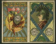 John Clark Jr Clark's Mile End Spool Cotton Thread Trade Card Calendar 1880