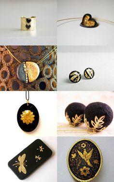 --Pinned with TreasuryPin.com Black Gold, Elegant, Classy, Chic