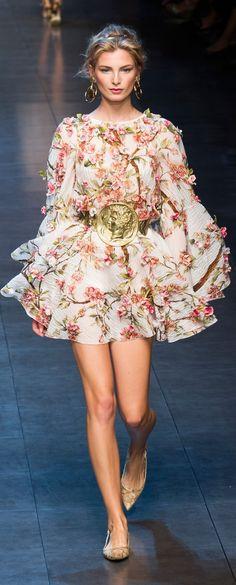 Dolce & Gabbana at MFW Spring 2014
