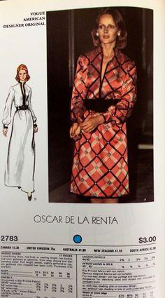 Oscar de la Renta sewing pattern for Vogue Patterns, c. 1970s.