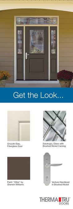 Therma Tru Smooth Star Fiberglass Door With Sherwin Williams Otter Paint And