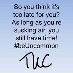 When you focus on the amount of work that needs to be done, it could be overwhelming. You will find your mind drifting into a place called 'I can't.' Planning can be emotional but don't let your emotions push you out and frustrate you. Stay present and in the now. Plan for tomorrow and push forward, day by day. #beUncommon