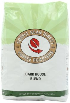 Coffee Bean Direct Dark House Blend, Whole Bean Coffee, 5-Pound Bag - http://www.teacoffeestore.com/coffee-bean-direct-dark-house-blend-whole-bean-coffee-5-pound-bag/