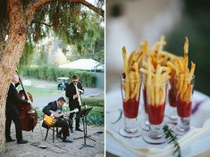 Ojai Valley Inn reception included french fry appetizers