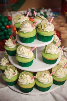Margarita Cupcakes- Mexican Themed Party