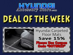 Deal of the Week: off Carpeted Floor Mats!