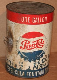 Old Pepsi-Cola syrup can