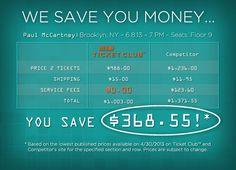 Hate service fees? www.ticketclub.com