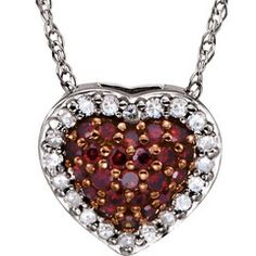 1/5 CTW Diamonds and Chocolate Diamonds Heart Pendant With 18 Inch Necklace