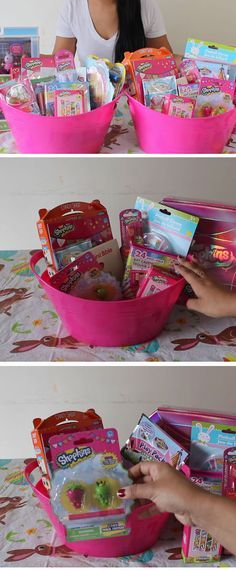 15 non candy practical easter basket ideas for kids para las nias shopkins themed easy diy easter basket ideas for kids diy gift baskets for friends cute ideas negle Images