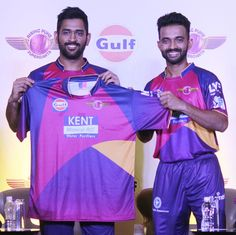 First Look: Captain Dhoni unveils Rising Pune Supergiants jersey for IPL 9