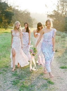 Floral bridesmaid dresses by PPS Couture by Plum Pretty Sugar. Image by Jose Villa. Wedding Wows, Tulle Wedding, Wedding Dresses, Wedding Shoot, Wedding Attire, Wedding Blog, Dream Wedding, Bridesmaids And Groomsmen, Wedding Bridesmaids