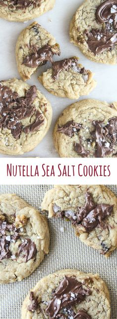 Soft-baked, chewy, buttery cookies with melty Nutella and lots of sea salt!