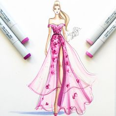 hnicholsillustrationOn Wednesdays we draw pink #fashionsketch…
