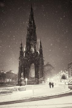 Dead of Night - Scott Monument, Edinburgh, Scotland