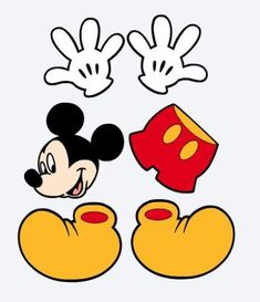 Details about Die Cuts Mickey Mouse, Hands, Shorts & Shoes Party Decorations, Scrapbook + More - Mickey mouse Mickey Mouse Classroom, Mickey Mouse Crafts, Mickey Mouse Shoes, Fiesta Mickey Mouse, Mickey Mouse Decorations, Minnie Mouse Theme, Mickey Y Minnie, Mickey Mouse Parties, Mickey Mouse Clubhouse