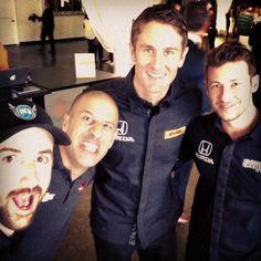 James Hinchcliffe, Tony Kanaan, Ryan Hunter-Reay, & Marco Andretti
