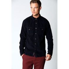 Navy Elbow Patch Cord Shirt. Sale $20.00