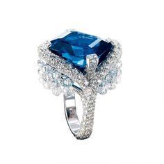 New Focus On |  Avakian | Sapphire And Diamond Ring