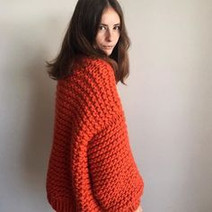 The STARDUST cardi is now available online & comes in three different colours 🍄 This is the orange sheep but there are pink & white sheep too ✨ #theknitter