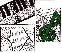 Music Zentangle ATC