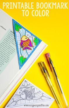 Sea Corner Bookmark to Color - Easy Peasy and Fun