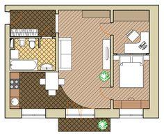Фотография: Планировки в стиле , Квартира, Дома и квартиры, Перепланировка, нестандартная планировка, квартира в кирпичном доме, дом серии 1-511, кирпичная двушка – фото на InMyRoom.ru