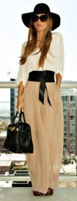 Summer - jupe longue plissée