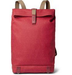Brooks EnglandPickwick Leather-Trimmed Canvas Backpack