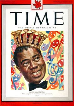 1949 original vintage Time magazine cover featuring the great Louis Armstrong.