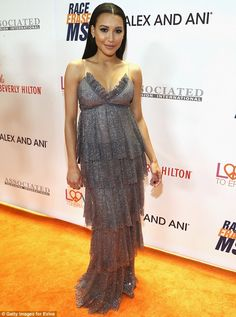 Gorgeous: Naya Rivera ttended the Race to Erase MS Gala at The Beverly Hilton Hotel on Fri...