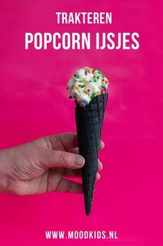 Op popcorn trakteren? Met stap voor stap uitleg hoe je deze traktatie maakt. #popcorn Popcorn, Birthday Treats, Milkshakes, Kids Meals, Oreo, Saving Money, Food Kids, Sweets, Cake