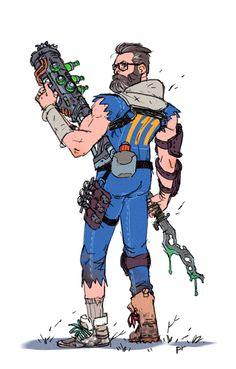 konradwerks//sketchbook : Photo Character Creation, Character Concept, Character Art, Character Design, Fallout Fan Art, Fallout Concept Art, Dnd Characters, Fantasy Characters, Fallout Cosplay