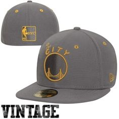 New Era Golden State Warriors Storm Gray 59FIFTY Fitted Hat - Gray