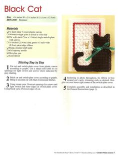 Switch plate cat 1 sur 2 Switch Plate Covers, Light Switch Plates, Plastic Canvas Crafts, Plastic Canvas Patterns, Lighted Canvas, Cross Stitch Needles, Canvas Home, Light Switch Covers, Needlepoint
