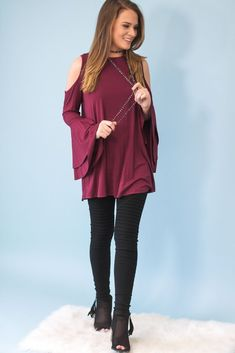 Bell Sleeve Bamboo Tunic-[product_description]-[product_tag]-Stella B. Clothing