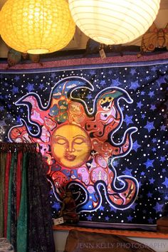 our beautiful Sleeping Sun tapestry! only $20