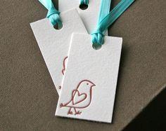 Bird Letterpress Gift Tag Set of 3