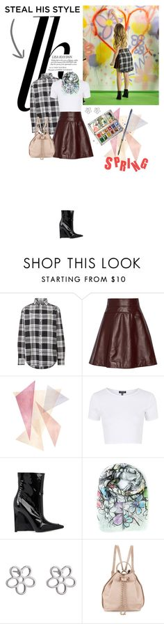 """""""Painting over scars and bruises..."""" by lydiarts ❤ liked on Polyvore featuring Temperley London, Topshop, Balenciaga, Faliero Sarti, Marc by Marc Jacobs, Tory Burch and boyfriendstyle"""