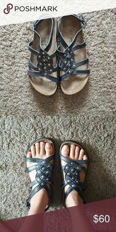2437bec8c3c BIRKENSTOCKS Betula Scrappy Gladiator Sandals In excellent condition!  Birkenstock brand Betula sandals with strappy studded
