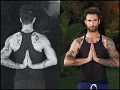 I DON'T PIN DUDES but I'm pinning this for my husband to look at for his healthy inspiration....Adam Levine