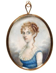 Eliza Huger  Unknown artist  early 19th century  watercolor on ivory  Gibbes Museum of Art