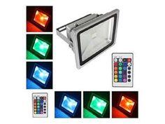 LOFTEK® 10W Waterproof Outdoor Security LED Flood Light Spotlight High Powered RGB Color Change(16 Different Color Tones) ...