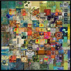 contemporary quilt art | collage #quilt #collage #art