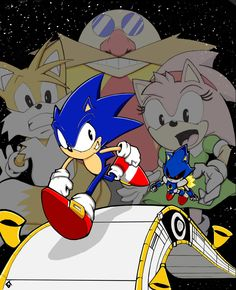 "Sonic Cd Contest entry ""Race to the Finish'' by Vauz.deviantart.com on @deviantART"