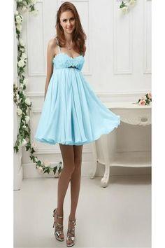 AHC030 New Arrival Sky Chiffon Homecoming Dresses 2017