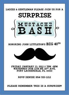Little man mustache bash invitation template 5x7 blue green grey mustache bash invitation template 4x6 filmwisefo