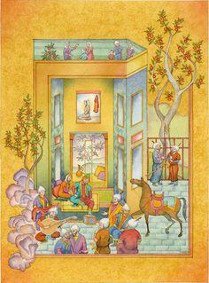 """Peter Szasz - Persian Miniatures - """"The Queen's Room"""""""